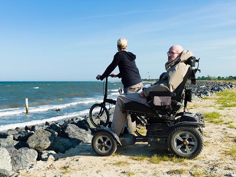 Spinal Injury Victim in Wheelchair